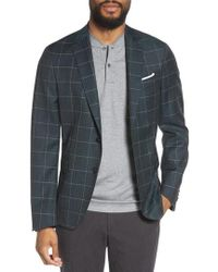 BOSS - Nobis Trim Fit Windowpane Wool Sport Coat - Lyst