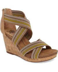 Söfft - Cary Cross Strap Wedge Sandal - Lyst