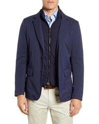 Peter Millar Valles Solid Stretch Wool Blazer - Blue