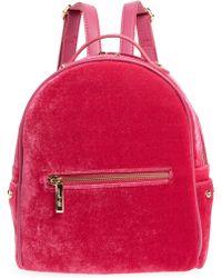 mali + lili Mali + Lili Marlee Velvet Backpack - Pink