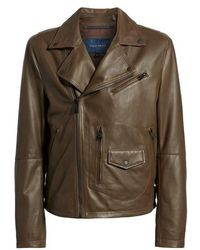 Cole Haan - Lamb Leather Jacket - Lyst