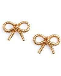Olivia Burton | Vintage Bow Stud Earrings | Lyst