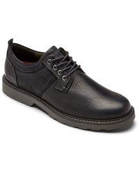 Dunham Jake Waterproof Plain Toe Oxford - Black