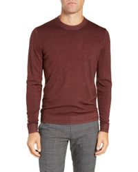 Ted Baker - Trim Fit Newab Garment Dyed Wool Sweater - Lyst