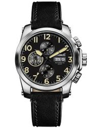 INGERSOLL WATCHES - Ingersoll Manning Automatic Leather Strap Watch - Lyst