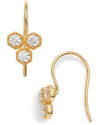 Nadri - Triple Hexagon Earrings - Lyst