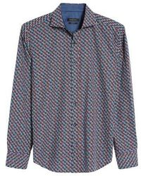 Bugatchi - Shaped Fit Print Sport Shirt - Lyst
