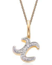 Monica Vinader Alphabet Diamond Pavé Pendant Charm - Metallic