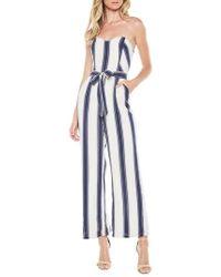 Bardot - Edie Stripe Strapless Jumpsuit - Lyst