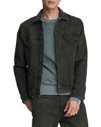 Rag & Bone - Definitive Jean Jacket Classic Fit Dark Green Jean Jacket - Lyst