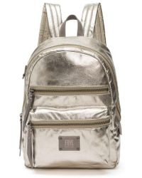 Frye - Ivy Metallic Nylon Backpack - Lyst