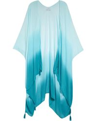 Rebecca Minkoff Dip Dye Ruana - Blue