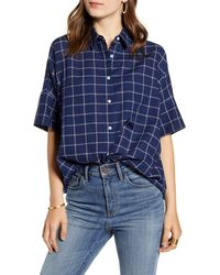 Madewell Courier Double Windowpane Shirt - Blue