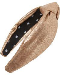 Lele Sadoughi Faux Leather Knotted Headband - Metallic