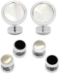 Ox and Bull Trading Co. - Mother-of-pearl Cuff Links & Shirt Stud Set - Lyst