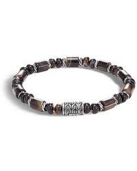 John Hardy - Classic Chain Bead Banded Agate Bracelet - Lyst
