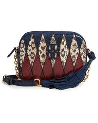 Tory Burch - Mcgraw Pieced Exotic Camera Bag - - Lyst