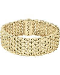 Lagos - Caviar Gold Bold Wide Rope Bracelet - Lyst
