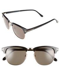 Tom Ford 'henry' 53mm Polarized Sunglasses - Black
