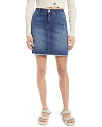 1822 Denim - Re:denim Fray Hem Skirt - Lyst