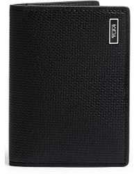 Tumi Monaco Folding Leather Card Case - Black