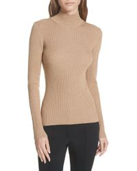 Diane von Furstenberg - Metallic Mock Neck Sweater - Lyst