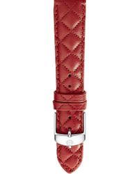 Michele - 16mm Quilted Leather Strap Watch - Lyst
