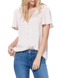 PAIGE Kelly Flutter Sleeve Top - White