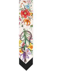 Gucci Flora Snake Silk Scarf - Multicolor