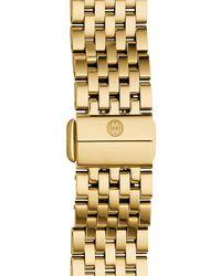 Michele 'deco Ii' 16mm Bracelet Watchband - Metallic