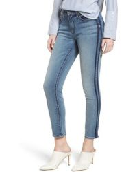 7 For All Mankind - 7 For All Mankind Roxanne Shadow Stripe Ankle Jeans - Lyst