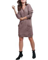 ALLETTE Margo Nursing Sweater Dress - Brown