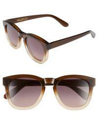 Wildfox - 'classic Fox' 50mm Retro Sunglasses - - Lyst