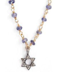 Ela Rae - Phoebe Diamond Collar Necklace - Lyst