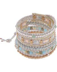 Nakamol - Square Bead Wrap Bracelet - Lyst