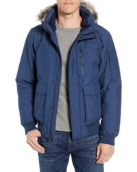 Marmot Stonehaven Waterproof 700 Fill Power Down Jacket With Faux Fur Trim - Blue