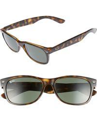 793d4a915e Ray-Ban - Standard New Wayfarer 55mm Sunglasses - Dark Tortoise - Lyst