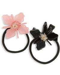 Cara - Set Of 2 Flower Ponytail Holders - Lyst