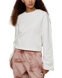TOPSHOP Tie Back Sweatshirt - White
