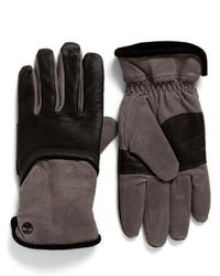 Timberland | Leather & Canvas Gloves | Lyst