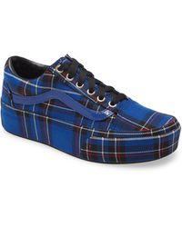 Vans Old Skool Plaid Platform Sneaker - Blue