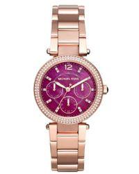MICHAEL Michael Kors - 'parker - Mini' Multifunction Bracelet Watch - Lyst