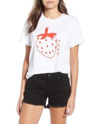 Obey - Lo-fi Strawberry Graphic Tee - Lyst