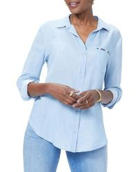 NYDJ - Classic Embroidered Shirt - Lyst
