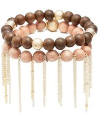 THE LACE PROJECT - Set Of 2 Bead Stretch Bracelet - Lyst