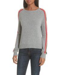 Allude - Rainbow Stripe Merino Wool Blend Sweater - Lyst