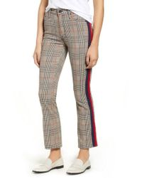 Mother - The Insider Plaid Ankle Pants - Lyst
