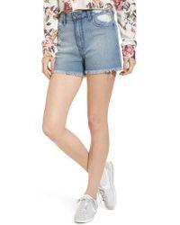 BP. - High Waist Distressed Denim Shorts - Lyst