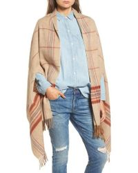 Madewell   Placed Plaid Cape Scarf   Lyst