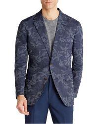 Bonobos Slim Fit Floral Cotton Blend Sport Coat - Blue